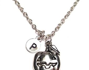 Pumpkin Necklace, Pumpkin Jewelry, Pumpkin Charm, Pumpkin Pendant, Halloween Necklace, Halloween Gift, Halloween Jewelry, Halloween Pendant