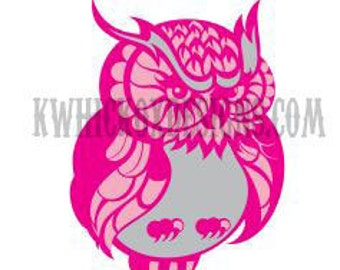 Svg File Owl SVG DXF Scal Cricut Silhouette Graphtec Cutting File