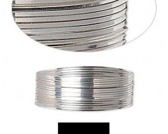 Quality Wrapping Wire Sterling Silver Half-Hard Square 21GA 5' SS HH SQ 21 Gauge #1386 Made in America