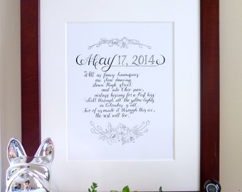 Wedding VOW Calligraphy,Custom calligraphy poem, love letter, quote, wedding vows, Bible verse Calligraphy, wedding vow, bible verse