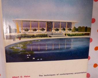 Architectural Rendering 1960 Albert O. Halse Book Mid Century Modern Mod Eames