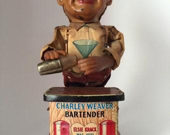Charlie Weaver Bartender Toy - Rosko Toys
