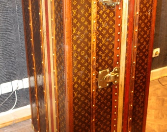 1920s Louis Vuitton Wardrobe Steamer Trunk