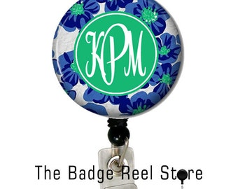 Personalized Retractable Badge Reel - Preppy