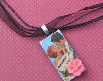 Kitsch Retro Romance necklace OOAK