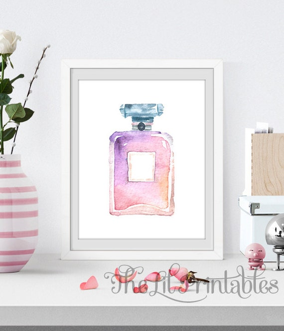 Items similar to perfume printable makeup wall decor for Room decor etsy