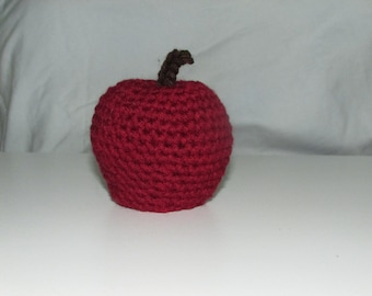 Red Delicious Apple Hand Crocheted by MommaSiedt