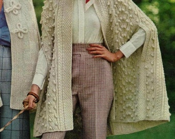 Knitting Pattern Cape Arm Slits : Cape with arm slits Etsy