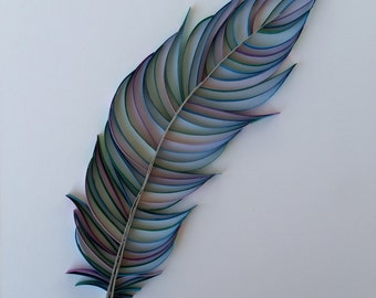 Paper Quilled Feather - 8x10