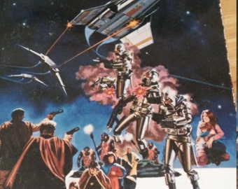 Vintage 1978 paperback Battlestar Galactica by Glen A. Larson and Robert Thurson science fiction