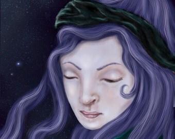 Urania's Solace Digital Art Print