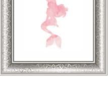 Pink Arial Mermaid DIY Art, Disney's Arial Poster, Print, Disney Printable Art, Disney Decor, Mermaid Decor, Girls Room, DIY Disney Wall Art