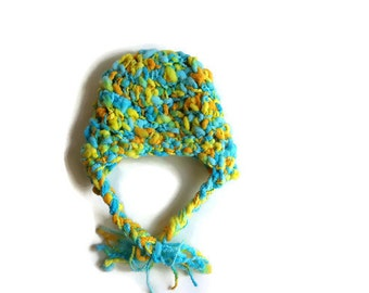 Crochet Baby Hat, Colorful Hat, Hat for Baby,  Handmade  Baby Hat, Crochet Hat, Baby Earflap Hat, 0-3 months Baby Hat, Baby Christmas Gift