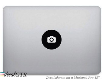 Camera Sticker for Macbook - Camera Decal - Icon Photographer - Apple Laptop Notebook Macbook Air Pro - Removable - T001