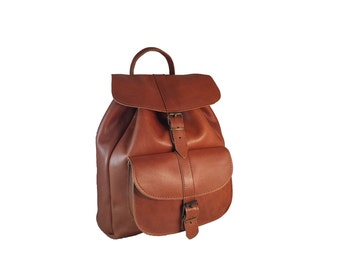 Leather Satchel Bag Large Size. Cowhide Leather Backpack. Handmade Premium Leather Rucksack Women - Men. Made in Greece. 4 Colors Available.