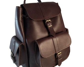 Leather Backpack Women MEDIUM Size. Leather Rucksack Dark Brown Color. 100% Full Grain Leather Handcrafted in Greece. 4 Colors Available!!!
