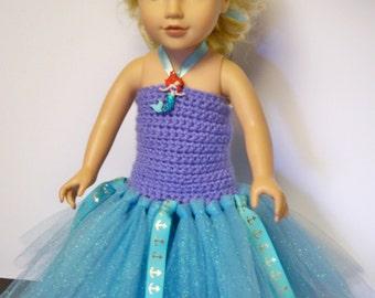"American Girl Little Mermaid Dress - Ariel - should fit most 18"" dolls"