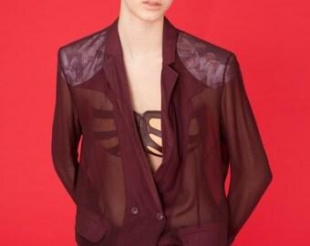 """Transparent jacket """"Bordeaux Nuit"""""""
