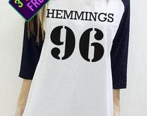 5sos Shirt Luke Hemmings 96 Dope Swag Hipster Unisex Baseball Men Women Funny 3/4 Raglan Long Sleeve