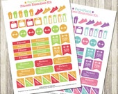 Fitness printable planner stickers / gym stickers for Erin Condren Lifeplanner, Filofax, Happy Planner, scrapbooking / INSTANT DOWNLOAD