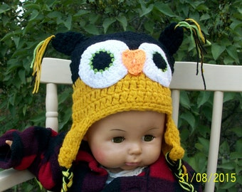 Baby Owl Hats-EASTER Owl Hats, baby hats, crochet owl hats, baby beanies, baby beanie, baby accessory, fall-winter hats