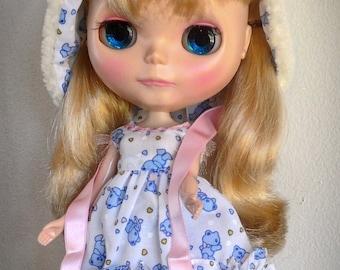 BLYTHE Baby Blue Bear Dress Set