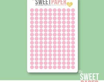 Mini Dot Planner Stickers | PINK