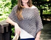 CROCHET PATTERN, Asymmetrical Poncho Crochet Pattern, Crochet Wrap Pattern, Crochet Pattern for Women - Instant Digital Download