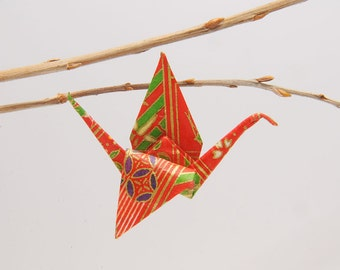 "Origami ""Crane of Eve""-brooch"