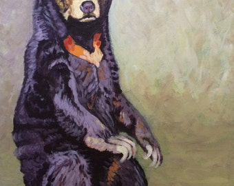 Custom animal portrait. Acrylic painting on canvas from your photo. Custom pet portrait.