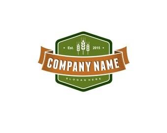 Farm logo design | Etsy