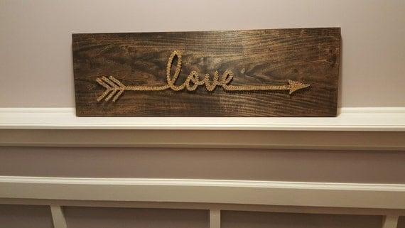 Love Arrow String Art Sign