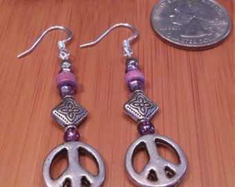 If You Want It Done Right Peace earrings
