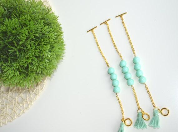 Mint tassel Bracelet,Mint green beads bracelet,Green Beads Bracelet,Tassel bracelet,yoga jewelry,spiritual jewelry,beads and tassel bracelet