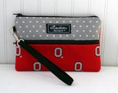 Padded Wristlet Mini Purse- OHIO STATE