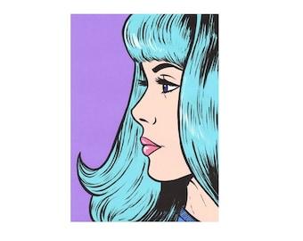 Mint Bangs Comic Girl Print