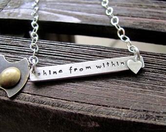 Custom Stamped Bar Necklace