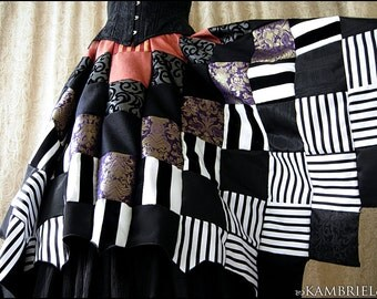 Wicked Whimsy - Cauldron Patchwork Skirt by Kambriel - One of a Kind - Brand New & Ready to Ship!