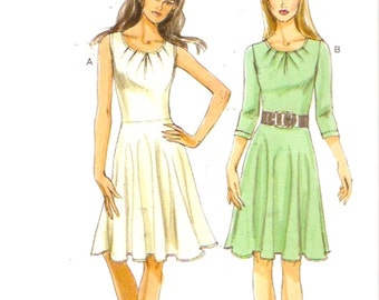 Chic Day dress sewing pattern Vogue 8663 Size 14 to 22 includes plus sz Uncut