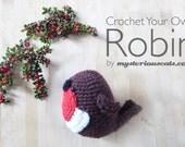 Robin Crochet Kit - Make Your Own Robin - DIY Crochet Robin - Christmas Crochet