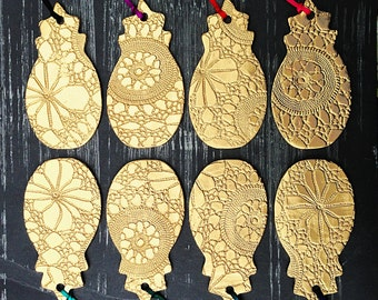 SALE 3 sets for 2 Set of 3 Pineapple Christmas ornaments Large gold Christmas tree decorations Lace texture Holiday decor Handmade ceramic