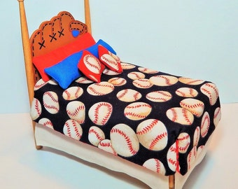 Dollhouse Miniature 1:12 Scale Baseball Bed