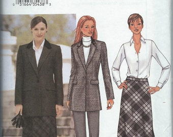 Butterick 3579 Misses'/Misses' Petite Jacket, Skirt and Pants - Size 12-14-16 - Uncut Pattern