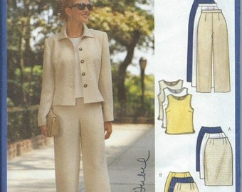 Butterick 5941 Misses'/Misses' Petite Jacket, Top, Skirt and Pants - Size 8-10-12 - Uncut Pattern