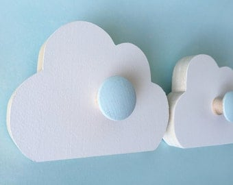 Cloud Wall Hook, Room Decor,  Aqua Blue,  Kids Decor, Cloud Nursery, Cloud Hanger, Eco-friendly