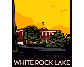 White Rock Lake Framed Art Print