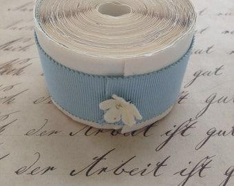 French Grosgrain Ribbon, Dutch Baby Blue