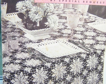Vintage Crochet Patternsn SALE 1947 Old and New Favorites by Clarks Queen Anne's Lace, Doilies, Bedspreads, Tablecloth, Dresser Scarf, Apron