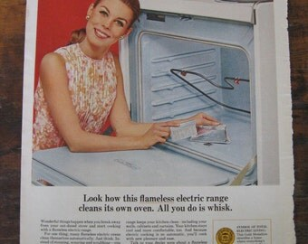 Vintage Ad for Electric Oven - Vintage Homemaker  - 1960s Magazine Ads