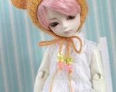 Sunset orange bear hat for YO-SD and similar size